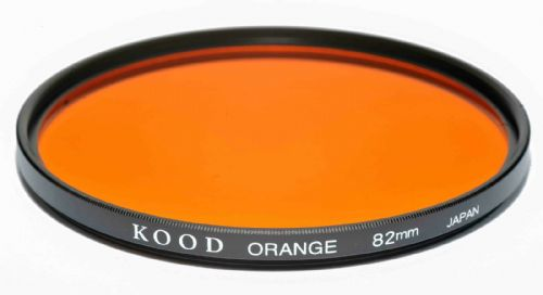 Kood High Quality Optical Glass Orange Filter Made in Japan 82mm